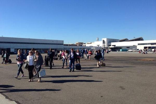 Terminais foram evacuados após tiroteio