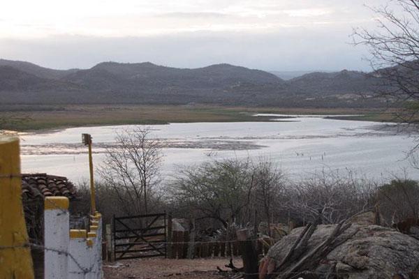 O açude Boqueirão, no município de Parelhas, teve um aumento de 30 cm com as chuvas