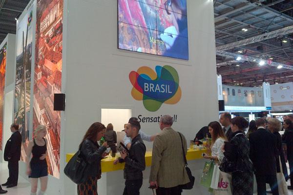 Estande do Brasil na feira de Turismo realizada em Londres: O Rio Grande do Norte não foi citado na programação do evento