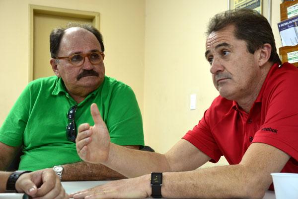 Francisco Novelletto tenta convencer José Vanildo, da FNF que o melhor para as pequenas federações é mudar o presidente da CBF