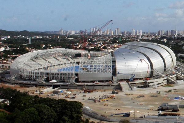 Estádio entrou na fase final de construção, com 94,07% das obras concluídas
