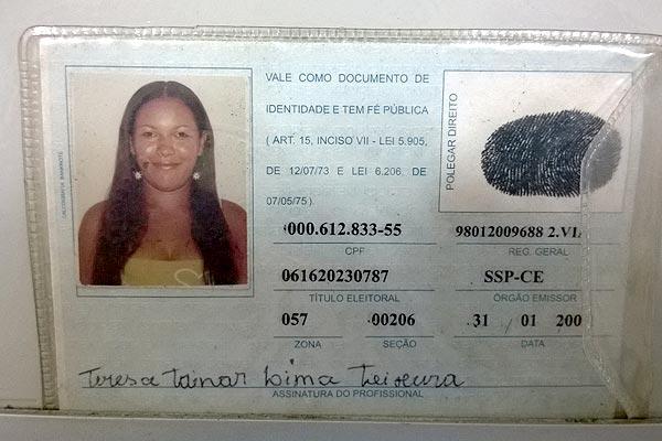Tereza Tainar morreu antes de receber o socorro médico