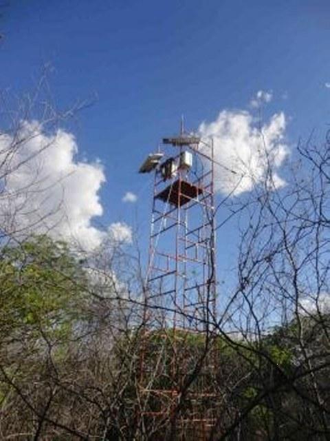 Instalação irá determinar o balanço de energia e o fluxo de CO2 líquido sobre áreas preservadas e em processo de desertificação