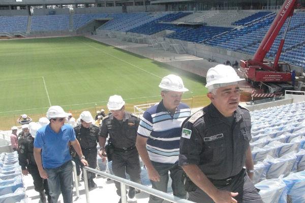 Comandante Geral realizou visita técnica ao Estádio Arena das Dunas