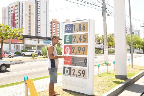 Mas logo começaram a reajustar o valor da gasolina e diesel