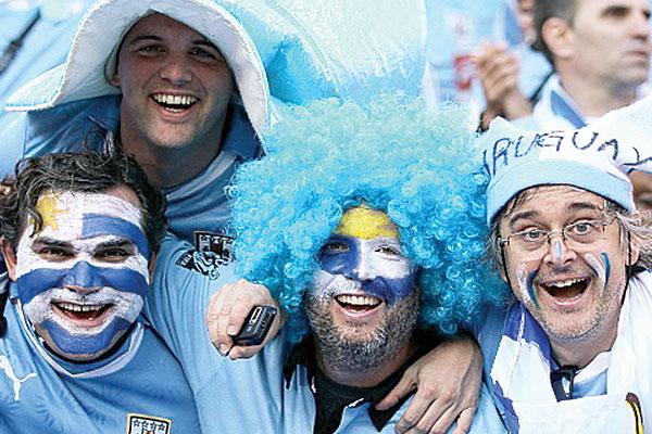 Uruguaios chegarão a Natal empolgados com a Copa passada