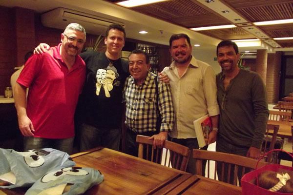 Encontro com Sidney Gusman (MSP), Brum, Maurício de Sousa, Williandi e Márcio Coelho