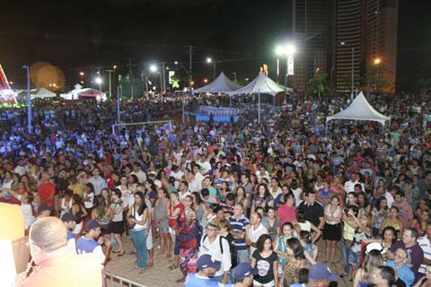 Milhares de pessoas participaram da 2ª noite da festa em Mirassol