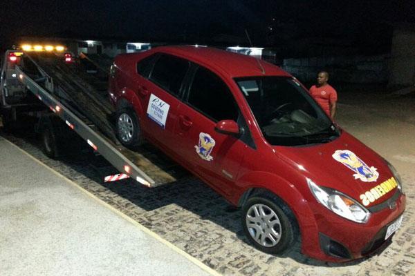 Após ser encontrada em Goianinha, viatura foi trazida para a unidade dos Bombeiros em Natal