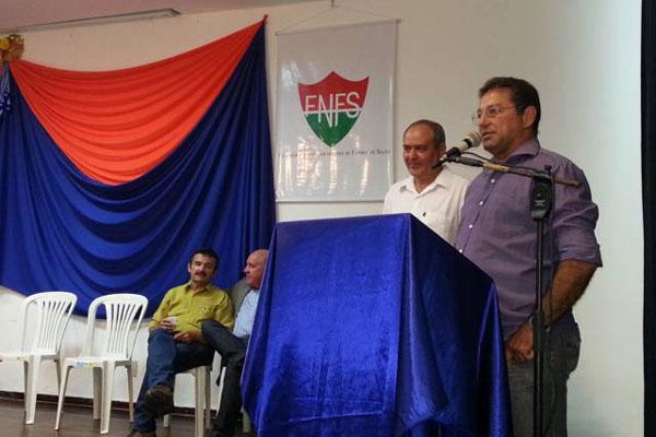 Sílvio agradeceu a lembrança de Clóvis Gomes, presidente da FNFS
