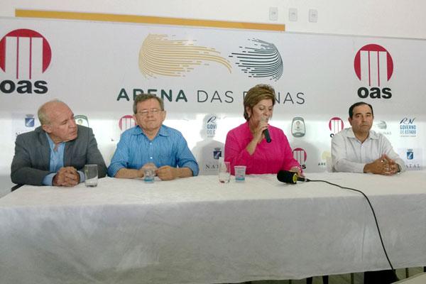 Datas de inauguração da Arena das Dunas foram anunciadas por Rosalba Ciarlini