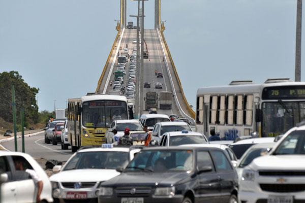 Ponte Newton Navarro será fechada totalmente ao trânsito a partir das 22h30 de terça-feira