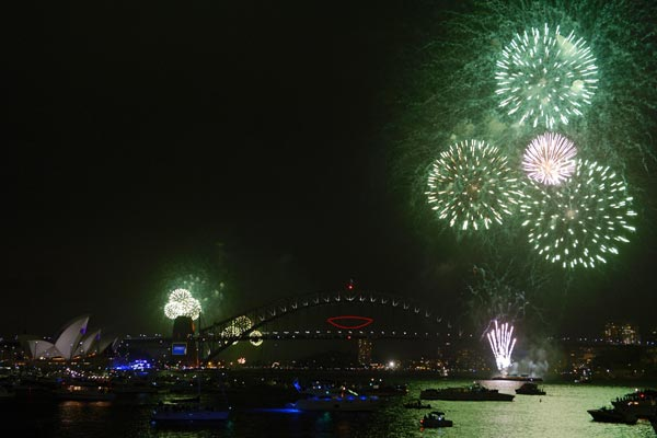 Oceania comemorou a chegada de 2014 antes do restante do mundo