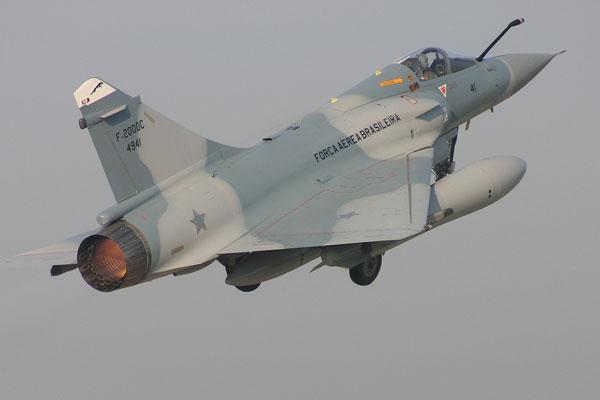 Mirage da esquadrilha que serve à FAB desde o ano de 2005