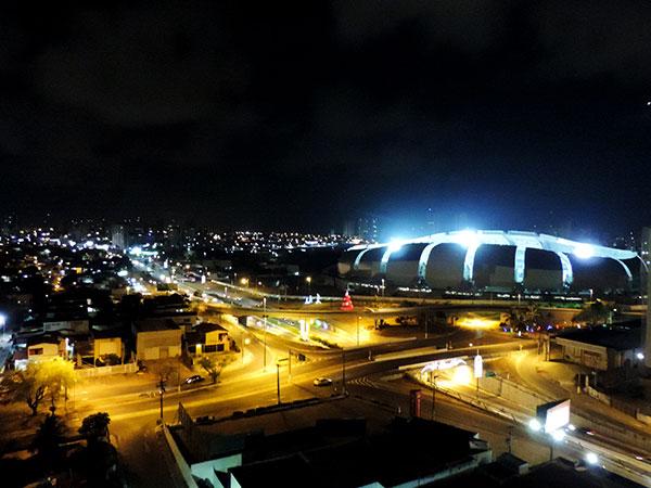 Arena das Dunas passou por teste final de iluminação antes da chegada do Ano Novo