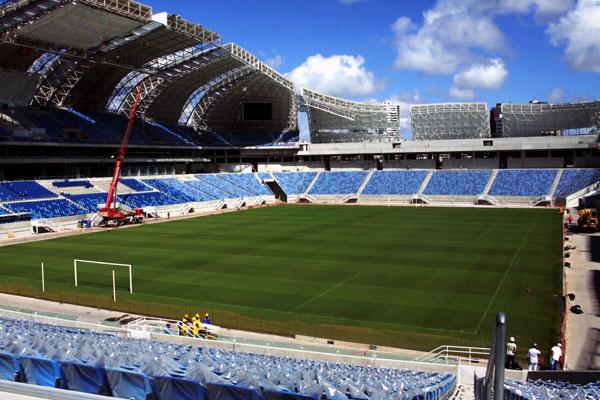 Estádio Arena das Dunas recebe os retoques finais para os eventos que vão marcar sua inauguração até a disputa da Copa do Mundo