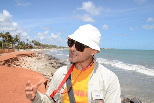 Pesquisador da UFRN, Venerando Amaro, começou estudo entre as praias de Muriú a Jacumã