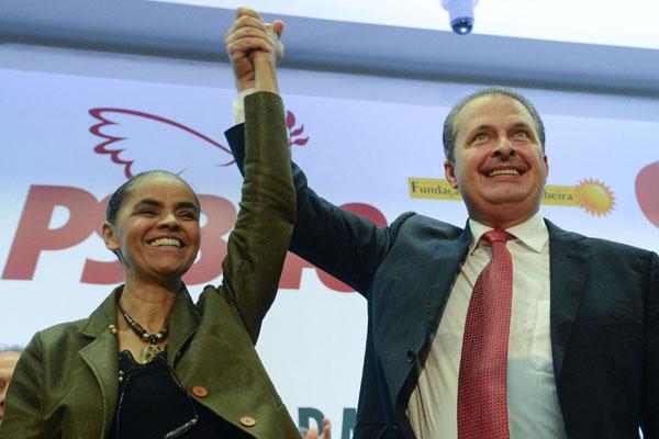 Marina Silva e Campos lançaram as diretrizes do programa