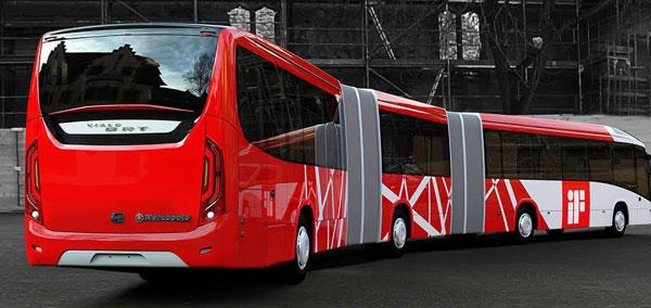 O visual da traseira do Viale BRT envolveu desenho inovador