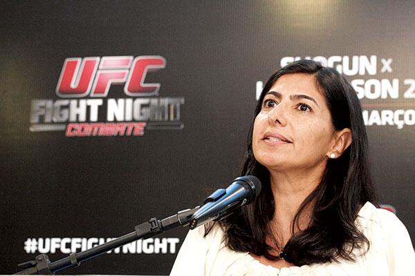 Grace Tourinho, diretora do UFC no Brasil, elogiou Natal