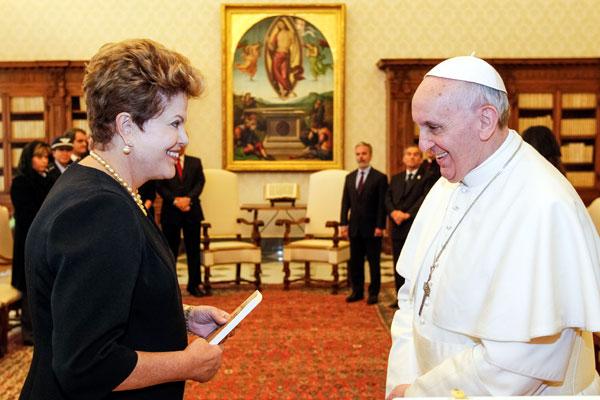 Dilma já esteve com o papa em sua posse no Vaticano e na Jornada Mundial da Juventude