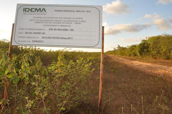 Área que vai sediar a ZPE de Macaíba: Projeto começou com dinheiro público e será privatizado