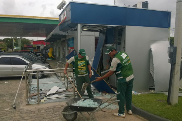 Terminal eletrônico da Caixa Econômica foi explodido na madrugada de hoje (21) em Pium