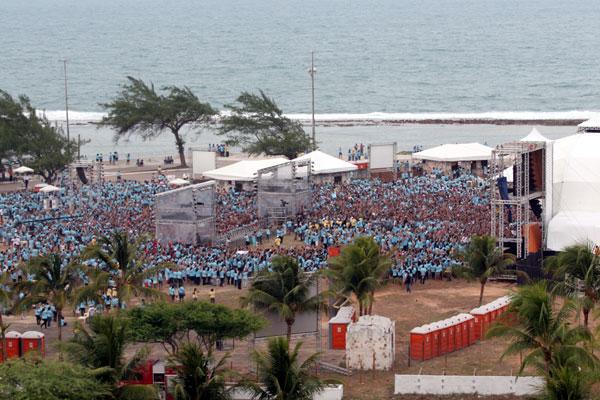 Fan Fest em Natal será realizada no mesmo local onde aconteceu o Bote Fé, na Praia do Forte