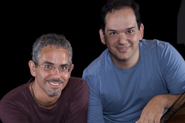 Os irmãos Eduardo (piano) e Roberto Taufic (violão)