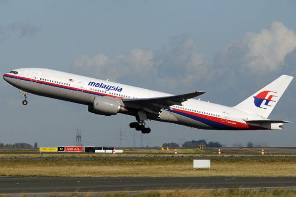 Boeing 777, modelo idêntico ao avião que desapareceu durante um voo que saiu da Malásia para Pequim