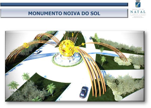Projeto prevê monumento para a rotatória da Via Costeira
