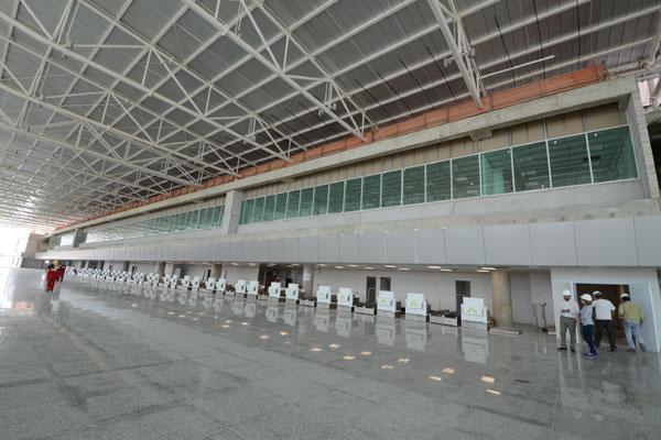 Terminal de passageiros do aeroporto Governador Aluízio Alves: Obra fica pronta em 15 de abril, mas operação deve demorar mais