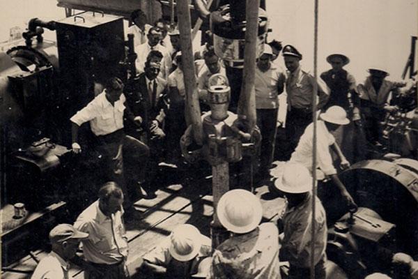 Primeiro poço perfurado no Rio Grande do Norte pela Petrobras, em 1956, na localidade Gangorra, em Grossos: Expectativas