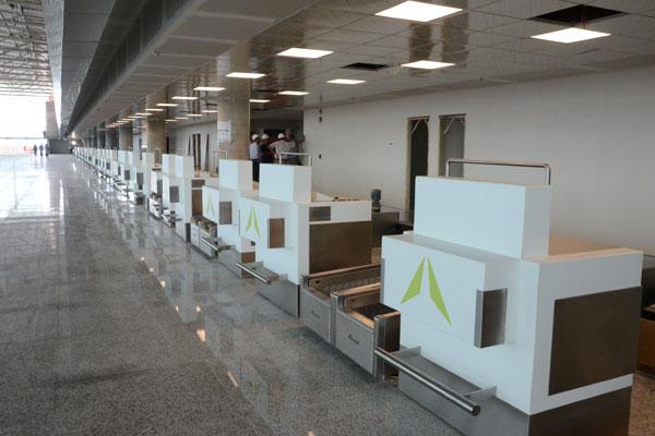 Terminal de passageiros do novo aeroporto: Mais de 200 voos extras são esperados durante a Copa