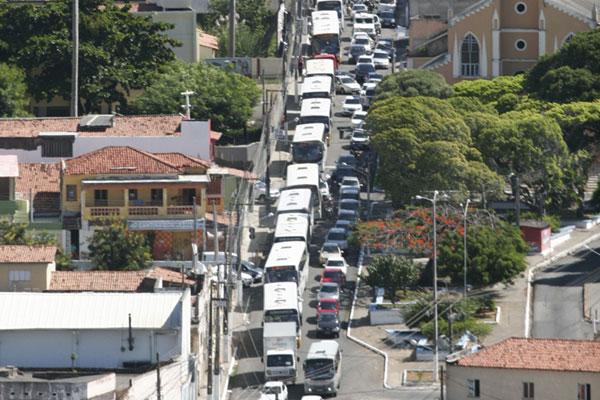 No sentido centro, motoristas enfrentaram congestionamentos