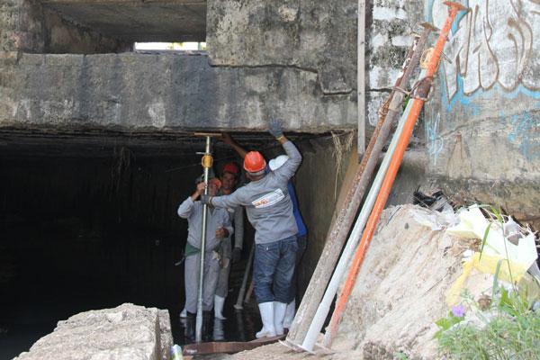 Ação provisória vai garantir a segurança da estrutura de concreto