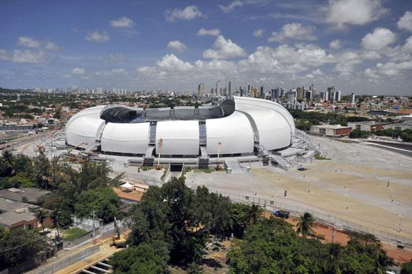 Arena das Dunas: estádio da Copa em Natal deve atrair torcedores e potenciais consumidores em junho