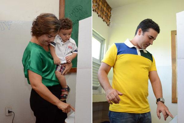 Larissa Rosado e Francisco José Júnior votaram na mesma escola