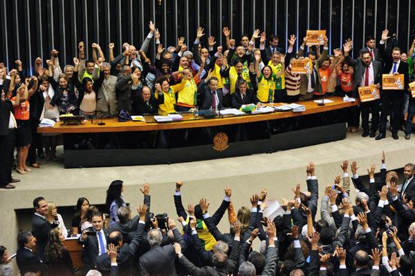 Deputados comemoram aprovação do projeto de lei que define o piso salarial dos agentes de saúde e de combate a endemias