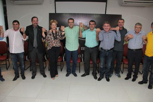 Líderes dos partidos que assinam o manifesto anunciam apoio aos pré-candidatos do PMDB e PSB