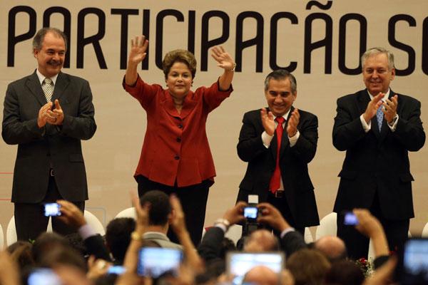"""Dilma Rousseff destaca os programas sociais que, segundo ela, foram """"reconhecidos no cenário internacional"""""""
