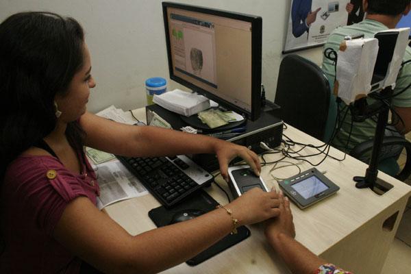 Eleitores foram recadastrados para a identificação por intermédio das impressões digitais