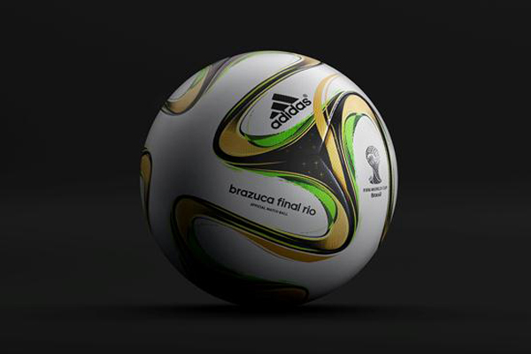 As brazucas são semelhantes, mas a bola da final possui detalhes em dourado