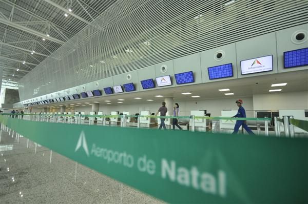 Local de checkin no Aeroporto Aluizio Alves