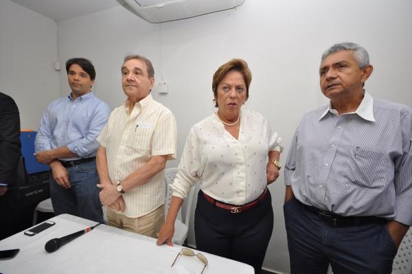 Felipe Maia, José Agripino, Rosalba Ciarlini e Leonardo Nogueira abriram a reunião do Democratas