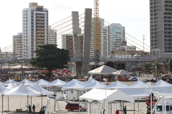 Contratação de estruturas temporárias gerou polêmica durante a Copa do Mundo