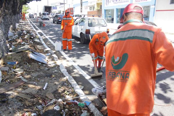 A Urbana fará a limpeza na parte externa