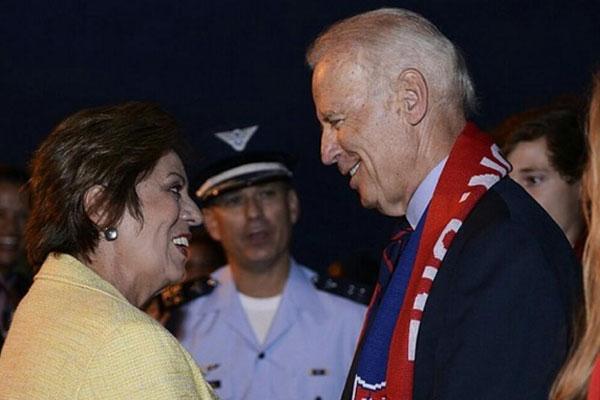 Rosalba Ciarlini recepcionou o vice-presidente Joe Biden