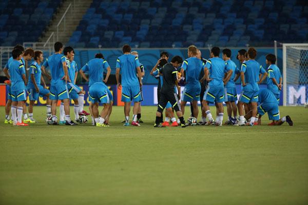 O Japão conheceu a Arena das Dunas, onde vão enfrentar, hoje, a Grécia, precisando de uma vitória para continuar com chances de classificação para as oitavas