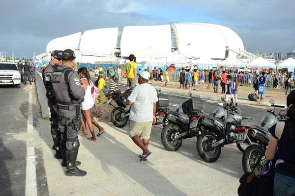 O reforço nos estádios ocorrerá tanto das empresas terceirizadas como do efetivo público